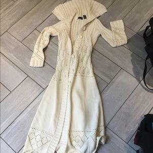 Nora Victoria's Secret long knit sweater/jacket